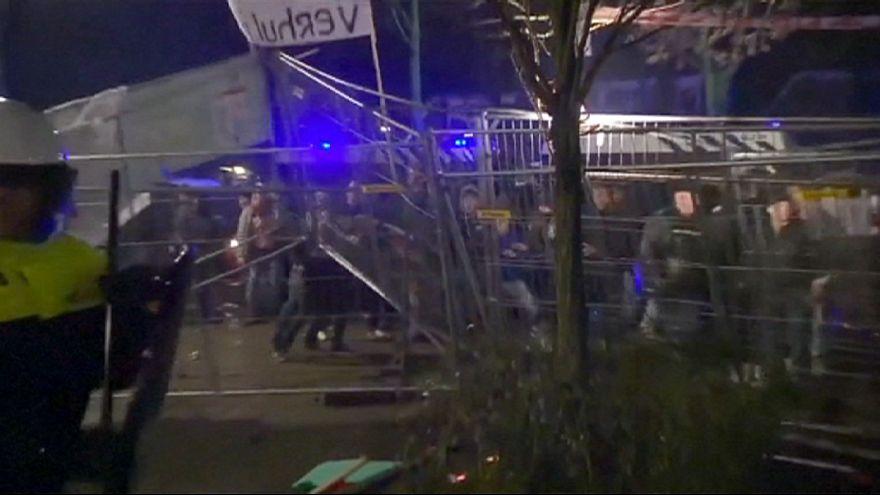 Menekült ellenes megmozdulás Hollandiában