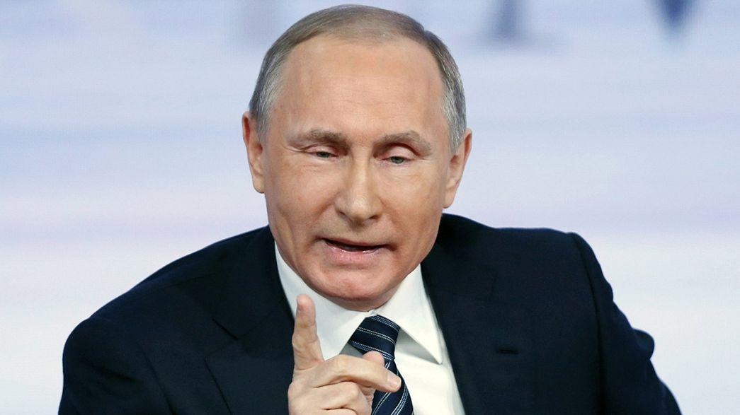 Turquia e futuro da Síria dominam conferência de imprensa anual de Putin
