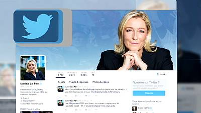 Marine Le Pen criticised for posting pictures of ISIL on twitter account