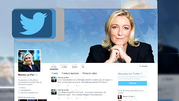 Fransız ırkçı lider Marine Le Pen'e Twitter soruşturması