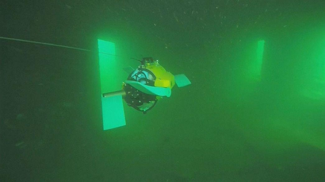 روبوت لدراسة حطام السفن في بحرالبلطيق