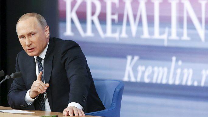 Putin basın toplantısında Türkiye'ye yüklendi
