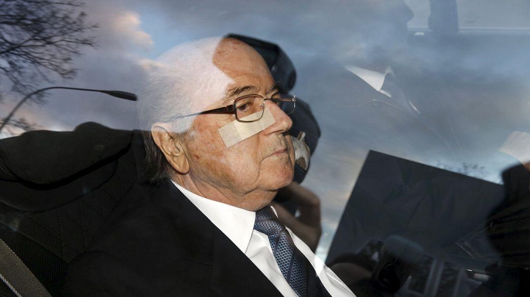 Sepp Blatter muet, Michel Platini absent