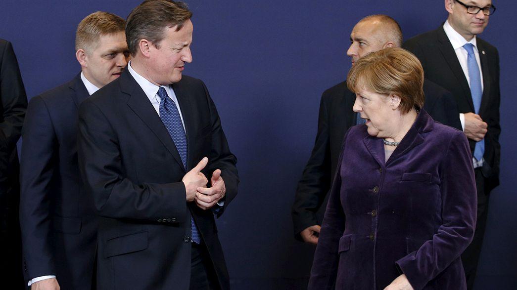 Las exigencias del Reino Unido copan el primer día de la cumbre europea