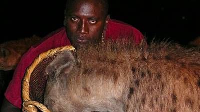 Ethiopia: Feeding hyenas mouth to mouth