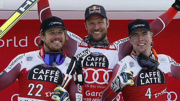 Aksel Lund Svindal gana el Super-G en Val Gardena