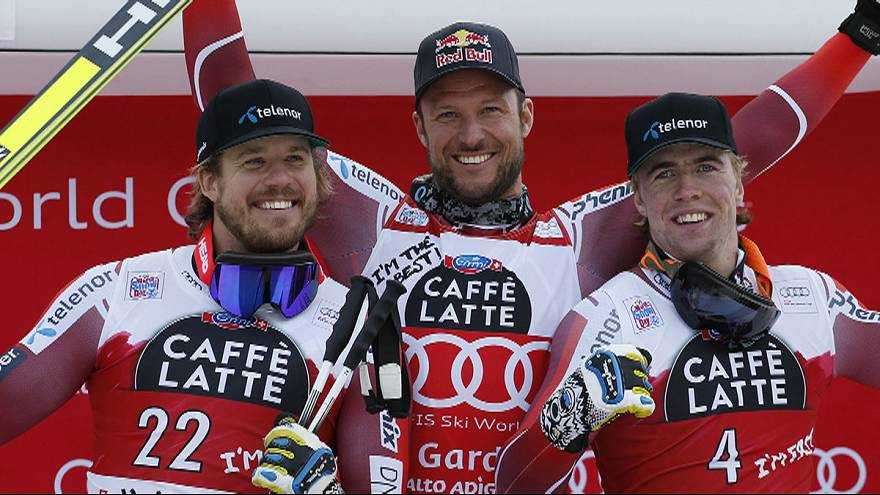 النرويج تتربع على منافسات السوبر العملاق للتزحلق على الثلج في فال غاردينا بإيطاليا