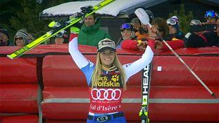 Lara Gut gana su particular duelo con Lindsey Vonn