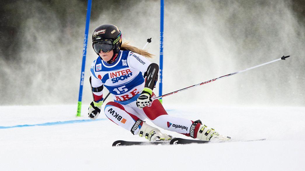 Doblete de Lara Gut en Val d'Isère