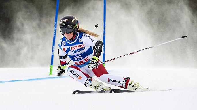 Lara Gut comme chez elle à Val d'Isère