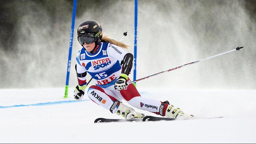 Schweizer Doppelsieg: Lara Gut gewinnt Abfahrt vor Fabienne Suter