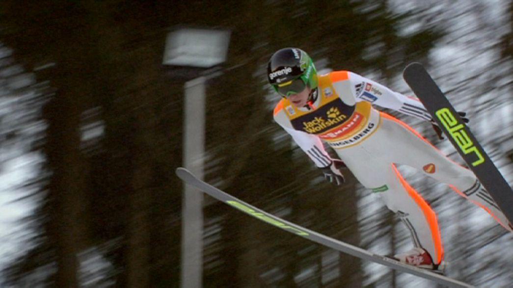 Saltos de Esqui: Irmãos Prevc conquistam Engelberg