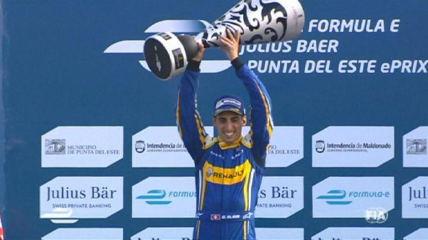 Sebastien Buemi gana en Uruguay y se coloca líder en el mundial de Fórmula E