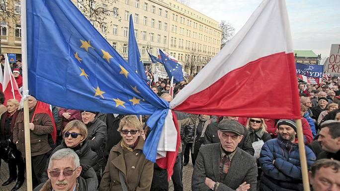Rallies across Poland as thousands accuse the new government of a 'creeping' dictatorship