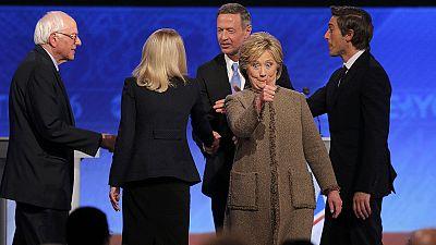 U.S. Democratic candidates clash over national security in third debate