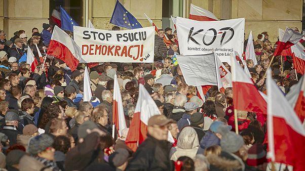 Антиправительственные протесты в Польше