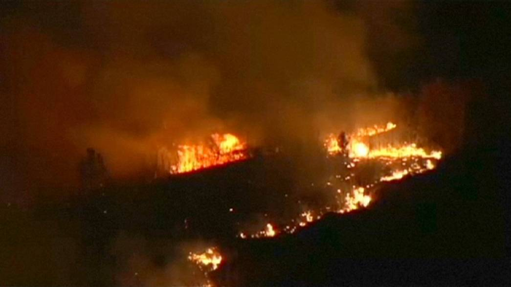El fuego sustituye a la nieve en los bosques del norte de España la víspera de la llegada oficial del invierno