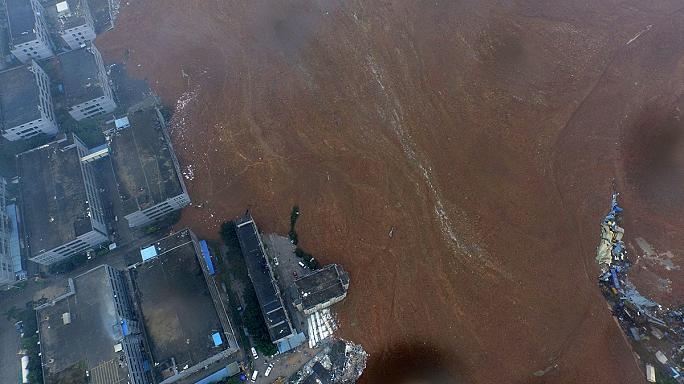 انهيار ارضي في شينزن الصينية