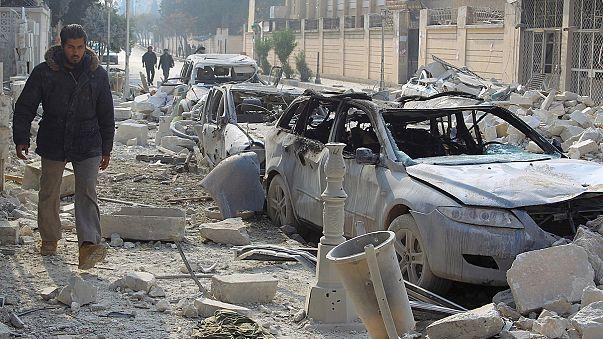 Decenas de muertos en Siria en bombardeos atribuidos a la aviación rusa