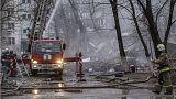 خانه های تخریب شده در پی انفجار گاز در ولگوگراد