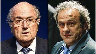 Michel Platini et Joseph Blatter supendus pour 8 ans