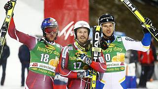 İlk paralel dev slalom yarışında zafer Jansrud'un