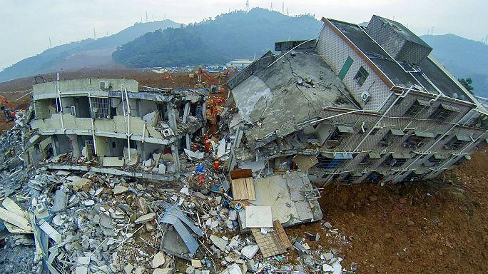 انزلاقات ترابية في الصين،81 مفقودا وانتشال جثة