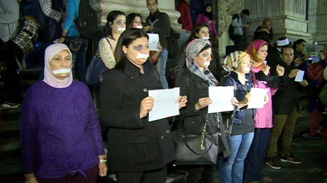 Protesta en el Cairo contra la violencia de género