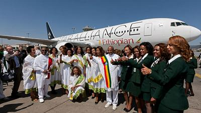 History for Ethiopia Airlines as it dispatches first ever all-female operated flight