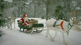 Santa Claus is on his way