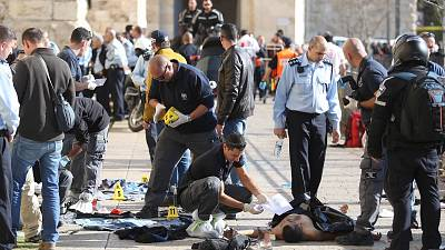 Two Palestinian attackers shot dead after Jerusalem stabbing spree