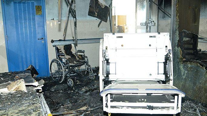 Hastanede yangın en az 25 cana mal oldu