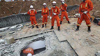 Shenzhen : Tian Zeming, le premier survivant du glissement de terrain