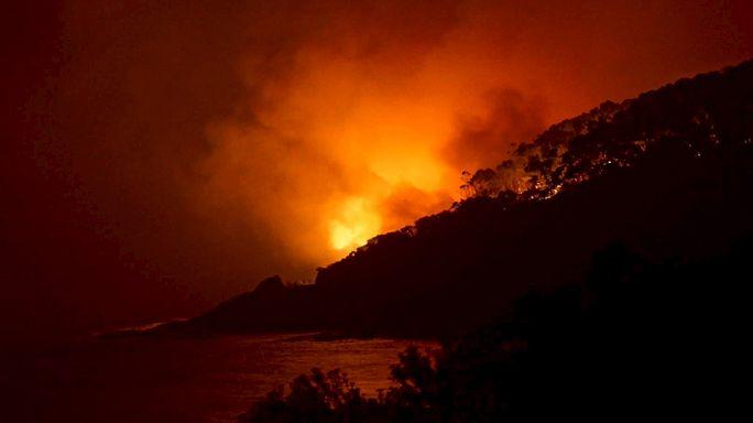 Лесные пожары на юге Австралии