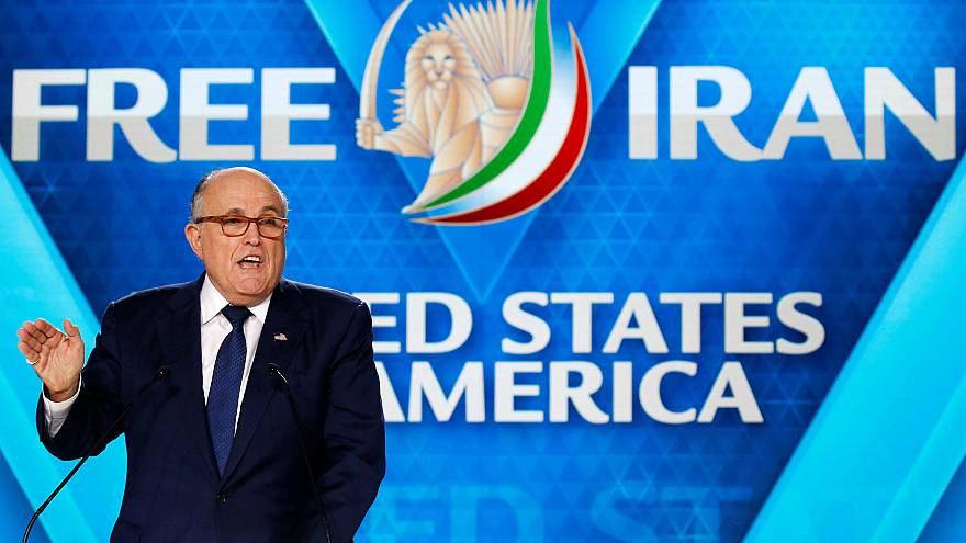 Image: Rudy Giuliani, former Mayor of New York City, delivers his speech as