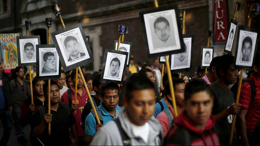 Mexico: parents of 43 missing students protest