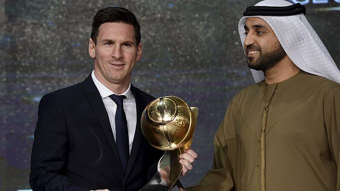 Messi scoops Player of the Year Award in Dubai