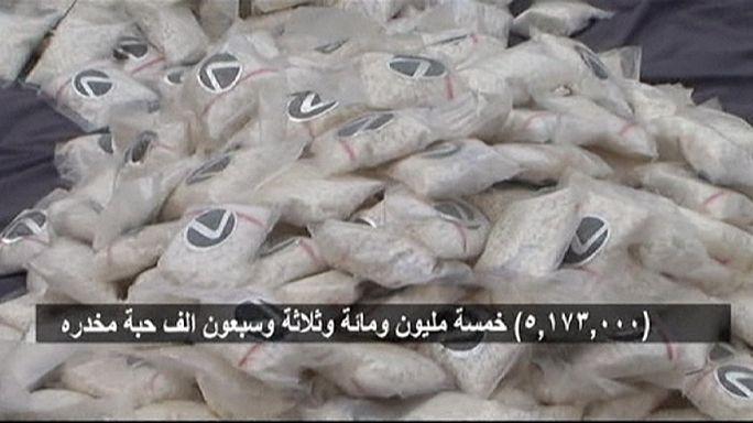 Szaúd-Arábia: nagy kábítószerfogás