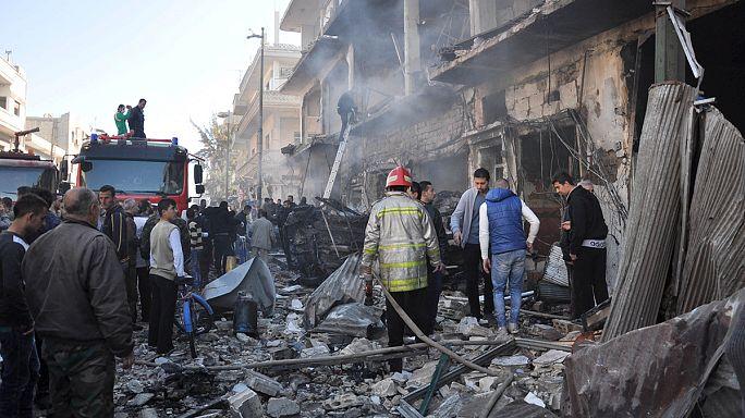 Humus'ta çifte saldırı: 30'dan fazla ölü