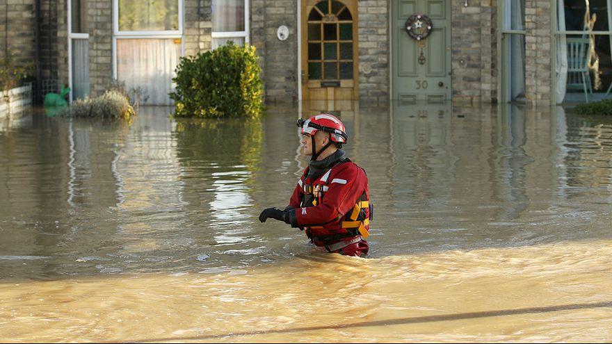 Royaume-Uni : les images des inondations