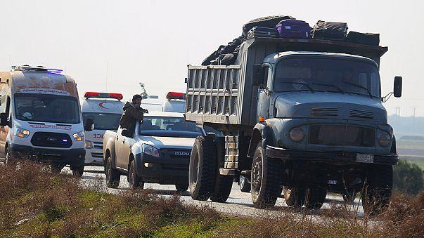 اجلاء مئات المقاتلين والمدنيين من ثلاث بلدات سورية تطبيقا لاتفاق بين النظام والمعارضة