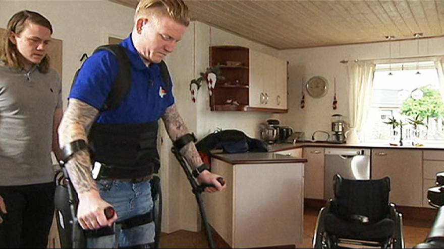 Paralysed man walks again