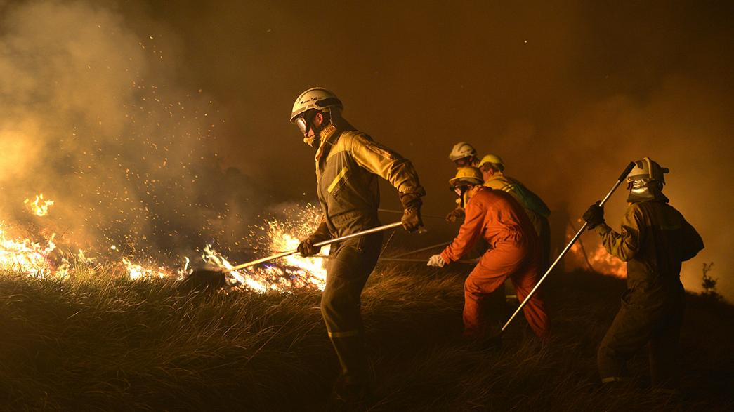 Spanish forest fires rage in Asturias region
