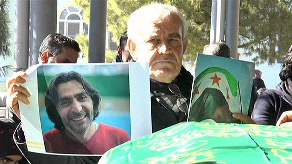 Gaziantep'te öldürülen Suriyeli muhalif toprağa verildi