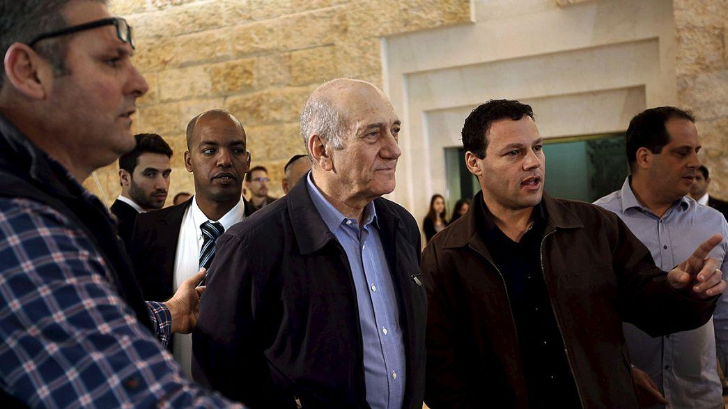Teilsieg in Berufungsverfahren - Israels Expremier muss 18 Monate ins Gefängnis
