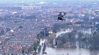 Royaume-Uni : York sous l'eau