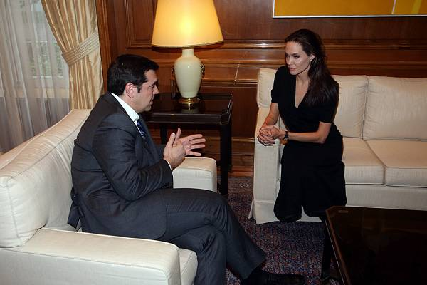 Jolie Was Later Received By Greek Prime Minister Alexis Tsipras In Athens And From There Is Eventually Expected To Travel North The Idomeni Camp On