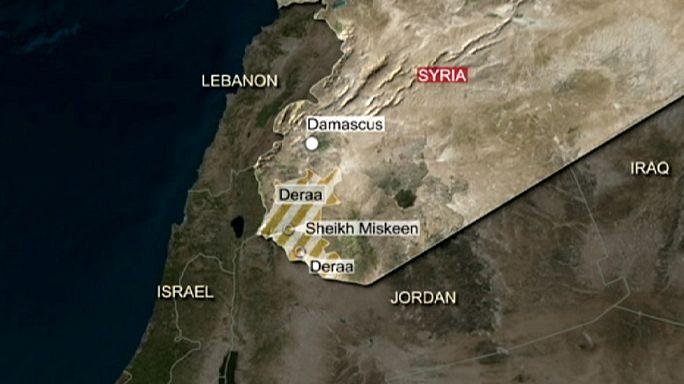 Szíria déli részén harcolnak a kormánycsapatok a lázadók ellen