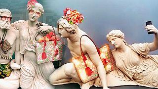 Bεβήλωση των γλυπτών του Παρθενώνα από τον οίκο Gucci!