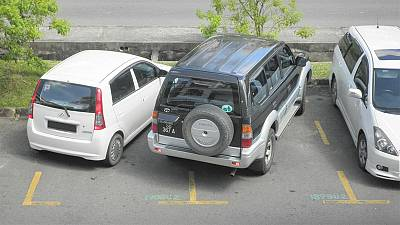 French bumper stickers target those who park badly